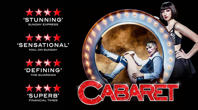 Theatre poster for Cabaret, a a play performed at Sheffield Theatres in Sheffield City Centre