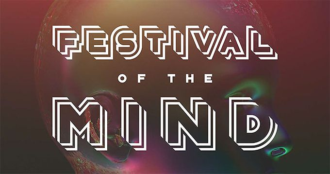Festival of the mind poster, a festival taking place in Sheffield City Centre