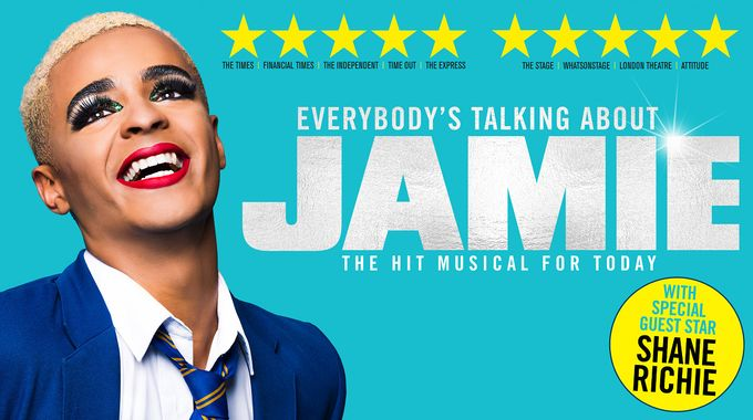 everybodys talking about jamie poster for the play performed in sheffield city centre