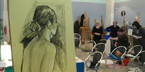 life drawing at millenium galleries in sheffield city centre