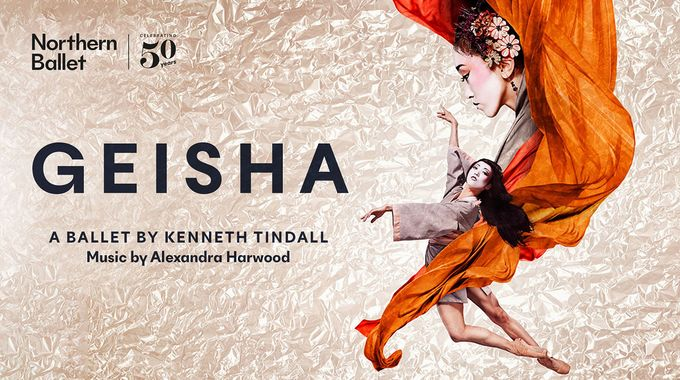 Theatre poster for geisha, a ballet a play performed at Sheffield Theatres in Sheffield City Centre