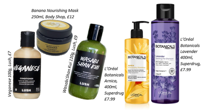 range of vegan haircare products