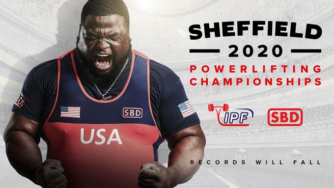 The Sheffield 2020 Powerlifting Championships promo poster