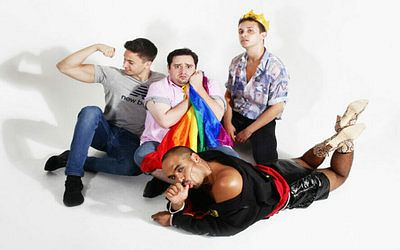 Cast shot from GUY, a musical shown at Sheffield City Centre's Theatre Deli