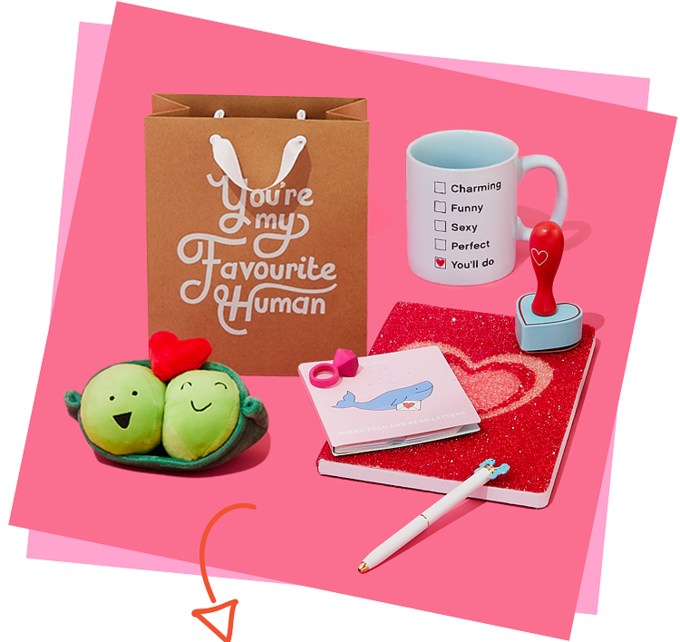 Valentine's day gifts on offer at sheffield city centre's paperchase store