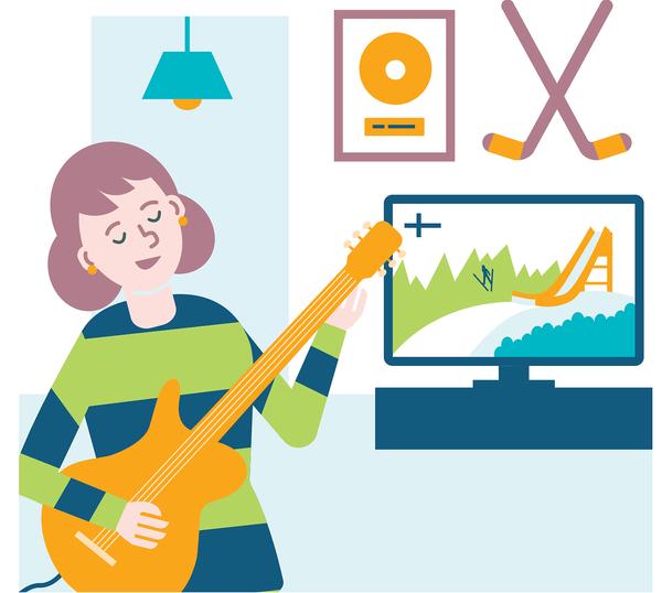 SATOn asunnossa saa musisoida - myös Joustokodissa