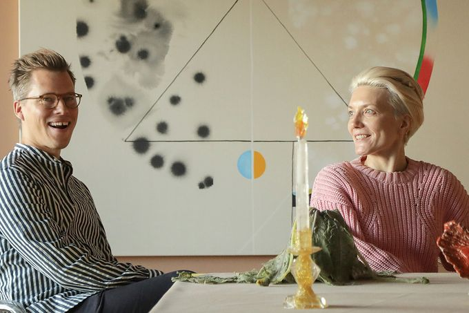 Kuitunen ja Mäkilä kuratoivat näyttelyn SATOn taloon