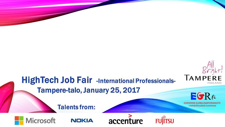 Tampere HighTech Job Fair at Tampere Hall on Jan 25, 2017